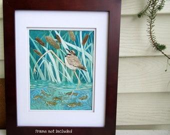 Original Watercolour Bird Painting - Swagger