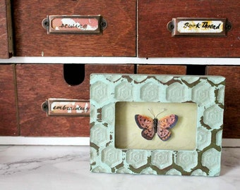 Framed Watercolour Butterfly