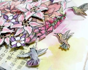 Original Watercolour Painting - Hummingbird Homecoming