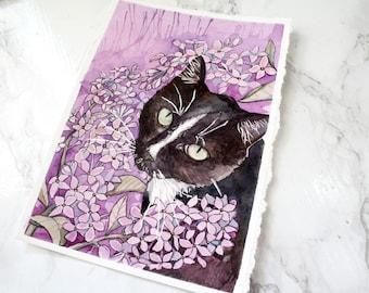 Original Watercolour Painting - Magellan with Lilacs