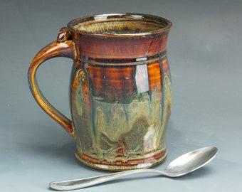 Pottery beer mug ceramic stein stoneware tankard 6216