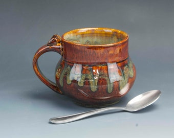 Pottery Mug Ceramic Coffee Mug Pottery coffee mug 6393