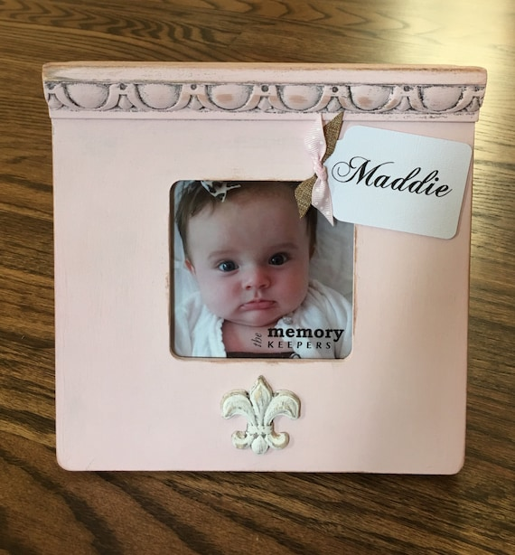 Personalized Baby Picture Frame Wall Letters Newborn Gift Etsy