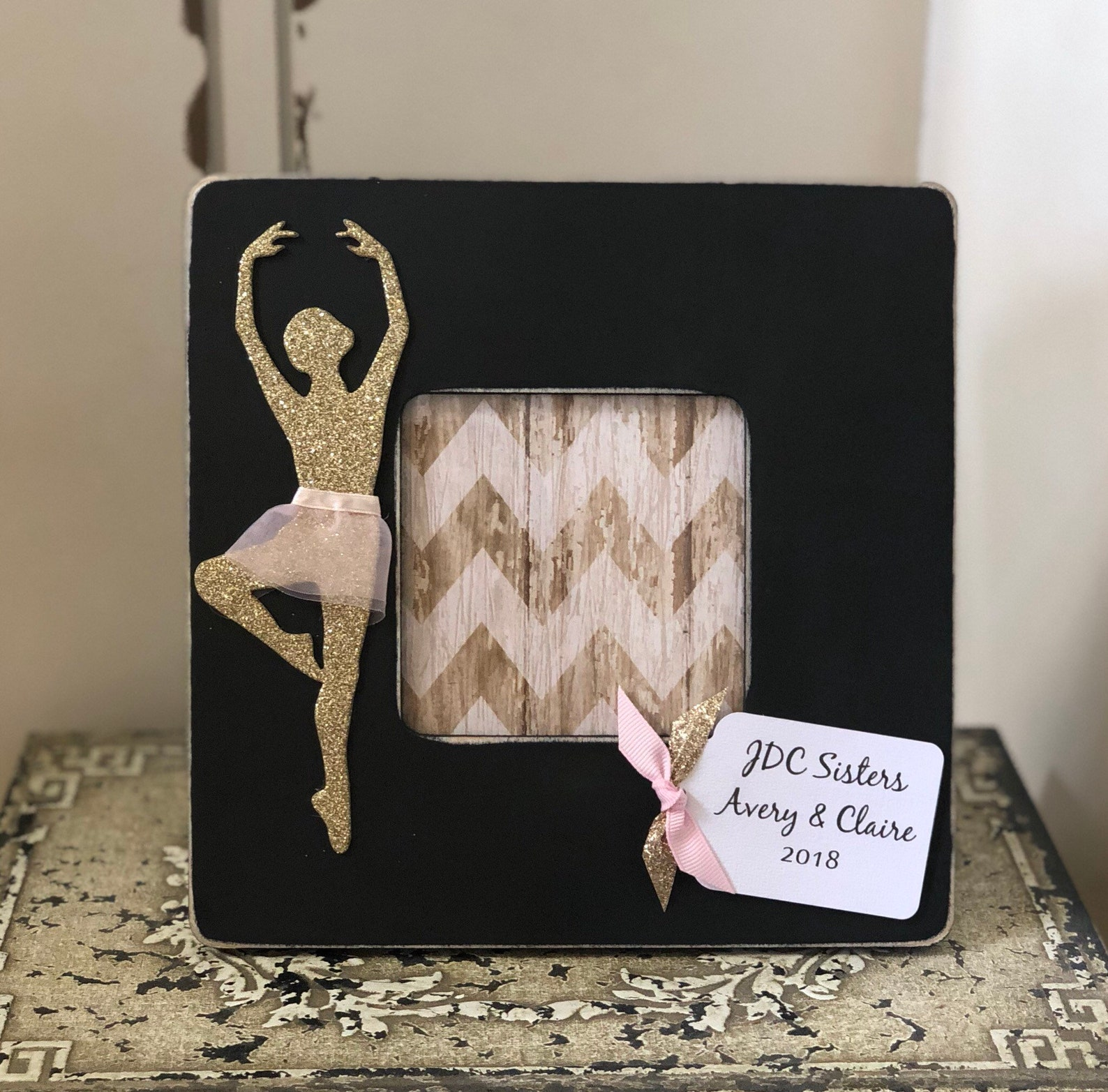 personalized dance frame, ballet frame, ballerina picture frame, i love dance frame, gift for dancer