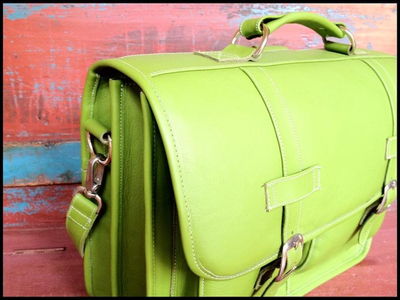 15in MacBook Pro DIAZ Medium Leather Messenger Briefcase  Backpack Laptop Bag in Antique Dark Brown