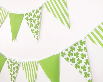 st patricks day shamrock decorations banner bunting garland fabric party flags