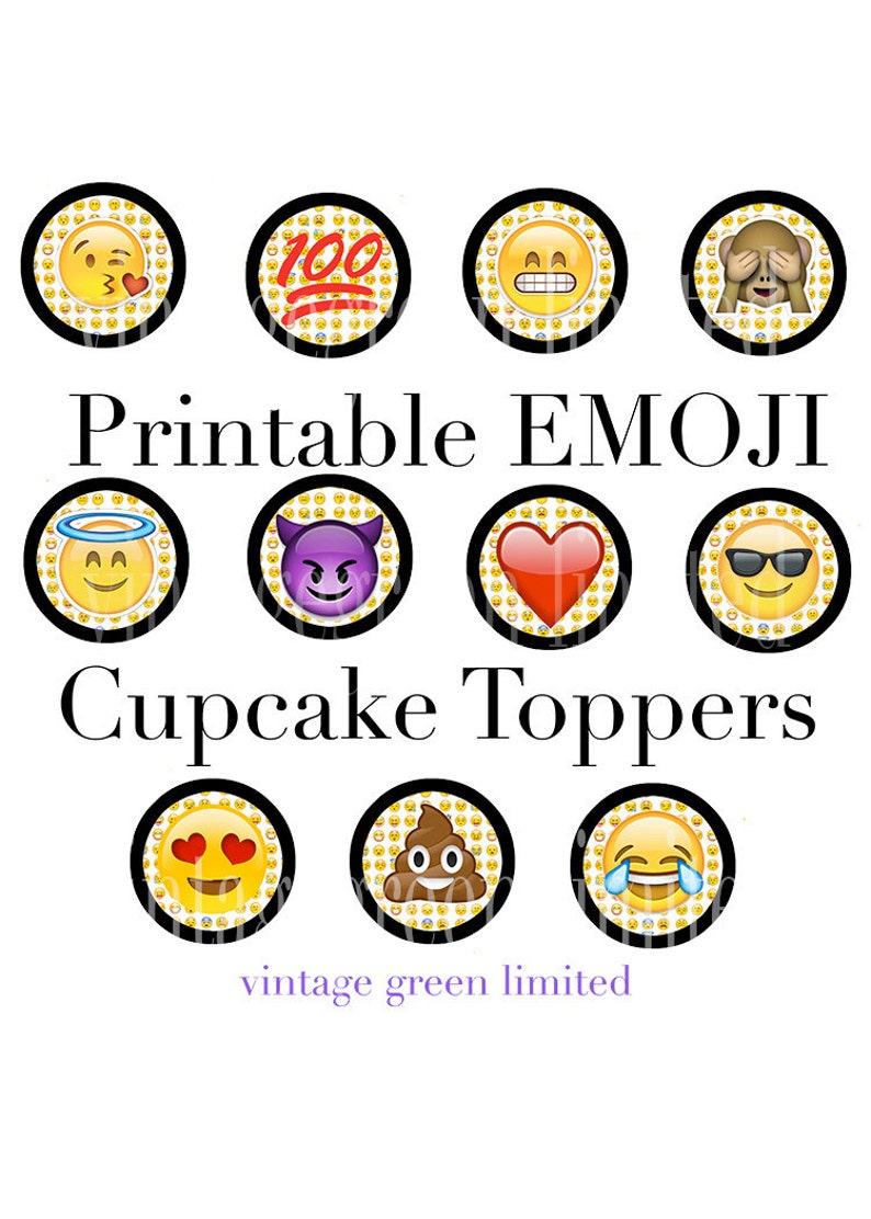 photo relating to Emojis Printable named EMOJI Printable Cup Cake Toppers, Instantaneous Obtain, Teenager Birthday Bash, 100, Poop, Monkey, Hysterical, Center Emojis Printable Cake Topper