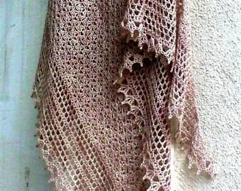 Direct Download  PDF pattern crochet shawl  Recuerdos de infancia