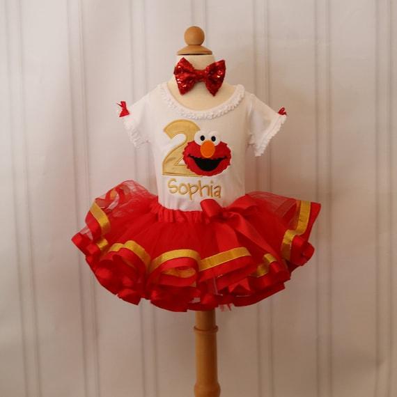Elmo Elmo Birthday Outfit Elmo Birthday Shirt Sesame Street