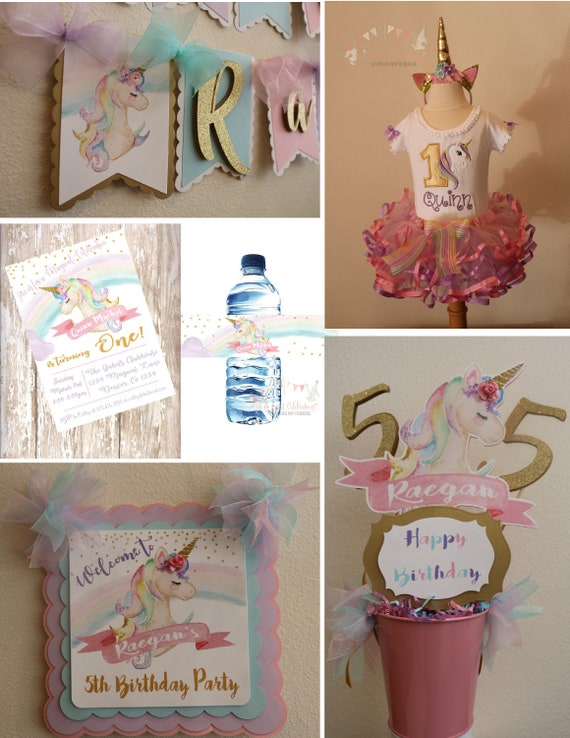 Unicorn Birthday Party Package 1st 2nd Magical Decorations
