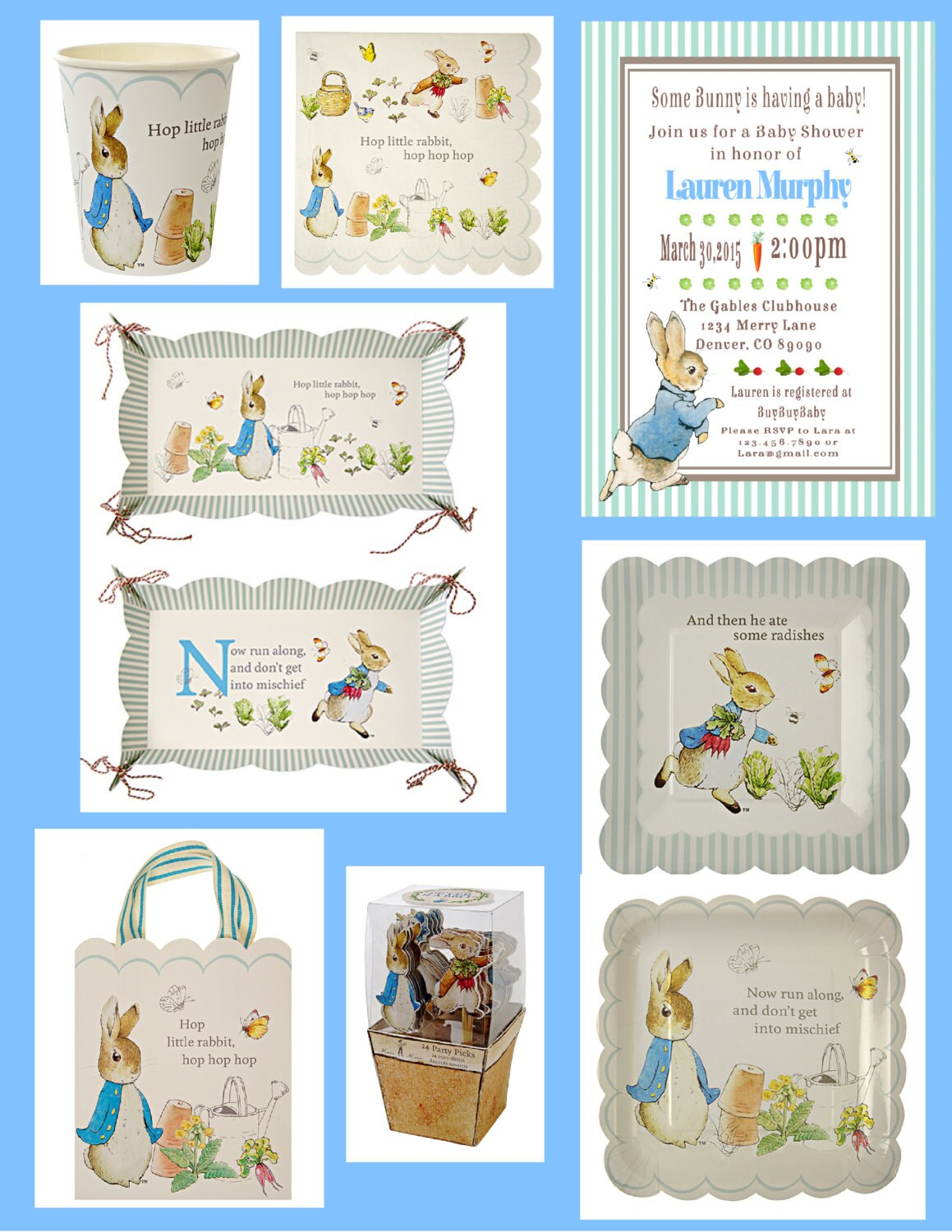 + $7.25 shipping  sc 1 st  Etsy Studio & Peter Rabbit party paper plates Beatrix Potter bunny Easter 1st ...