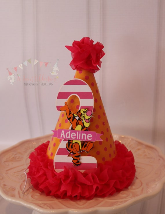 Tigger 2nd Birthday Name Hat Party By