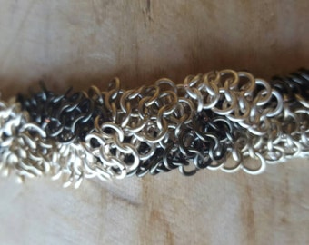 Braided celtic chainmaille bracelet