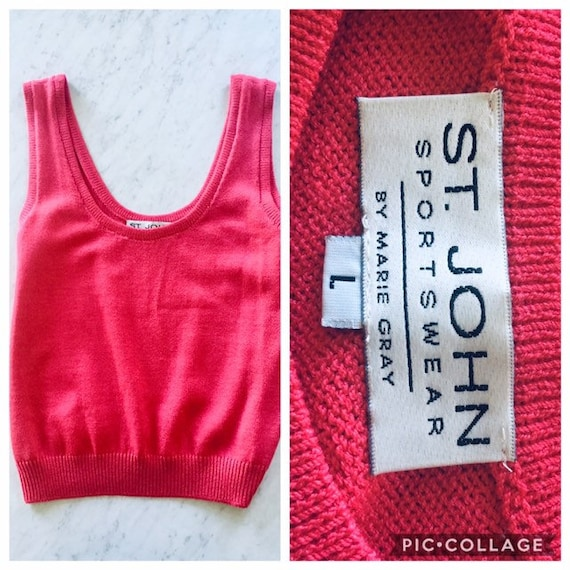 Fuchsia Pink ST JOHN Top / Sportswear Sleeveless K