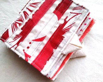 Fabric Book Textile Sample Booklet Needle Book OOAK Needle Case One-Of-A-Kind Sewing Scrapbook Sewing Booklet