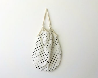 CUSTOM ORDER your own Reusable Shopping Bag in Black And White Polka Dots Eco-friendly Shopper Bag by OnePerfectDay