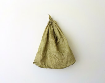 Olive Green Reusable Shopping Bag Foldable Market Bag Eco-friendly Shopper Fold-Up Tote Bento Bag by OnePerfectDay