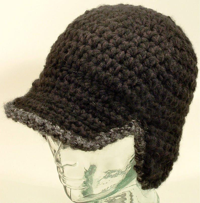 0c7bf391618 Mens Beanie Baseball Cap Hat Ear Flap Flex Visor Black Fleece