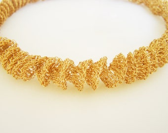Gold Wedding Necklace, Gold Statement Necklace, Unique Wedding Necklace, Gold Bridal Necklace, Chunky Gold Necklace
