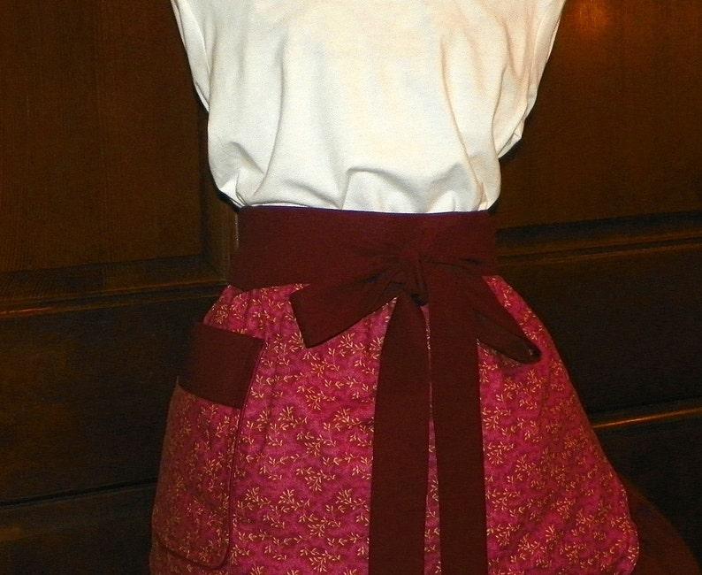 Flirty Fun Sassy Hostess Waist Apron 21 In Vines on Wine by Nanasaprons Handmade for Fun Cooking Baking