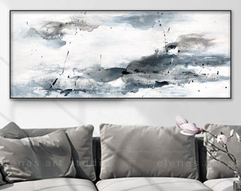 """After the storm"""" print, Seascape art, Gallery Wrap Canvas, Ready To Hang, Floating Frame option, Horizontal Canvas Giclee Print 836"""