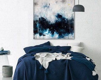seascape painting Abstract seascape art Abstract painting Large original painting on canvas Abstract art seascape painting Canvas art