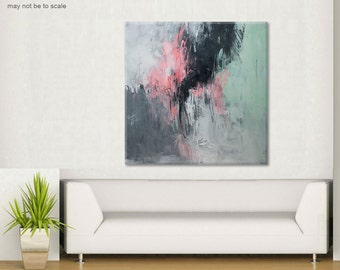 Abstract painting Large painting on canvas Large abstract wall art Black gray abstract Original painting Canvas Art Minimalist art