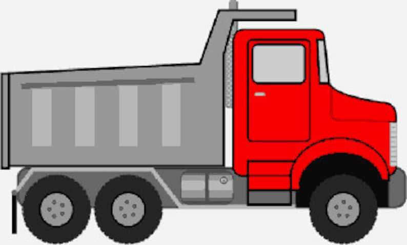 Dump Truck Digital Embroidery Design Truck Digitized Etsy