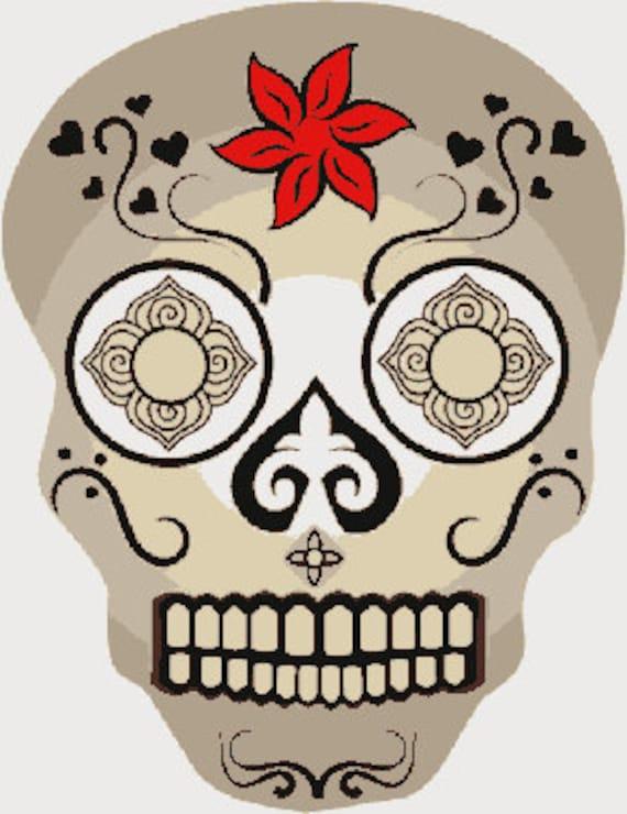 Diseño de bordado digital de cráneo adornados cráneo | Etsy