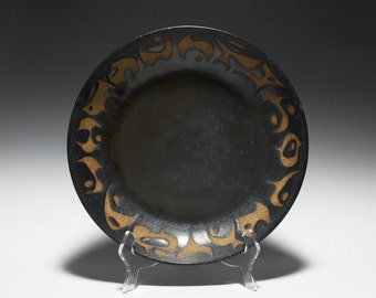 Large Handmade Ceramic Bowl with Abstract Modern Decoration 15-080