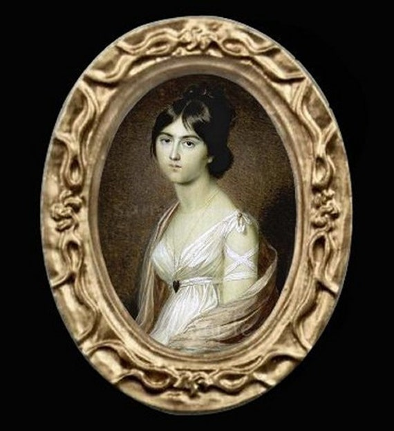 1800/'s Portrait of A Girl Miniature Dollhouse Picture