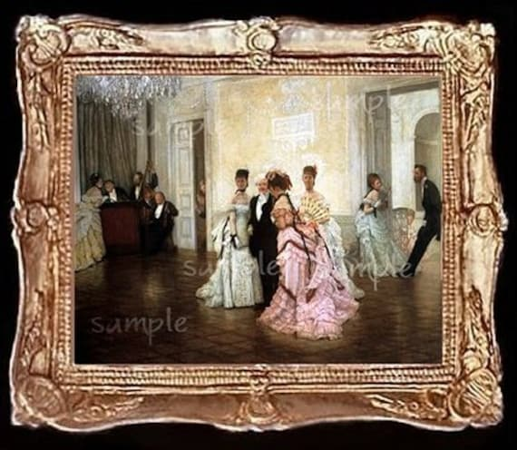 Victorian Ballroom  Miniature Dollhouse Picture