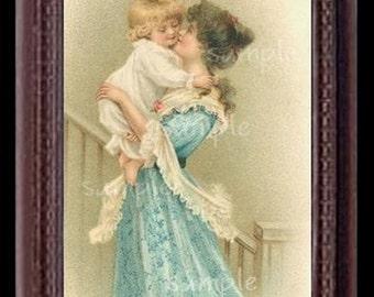 Mother's Love Miniature Dollhouse Art Picture 1866