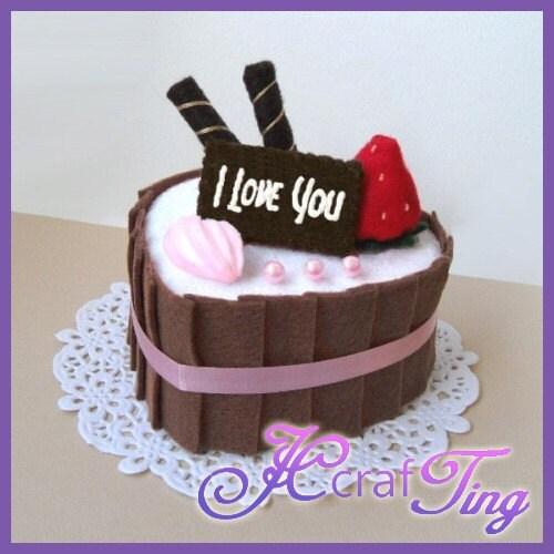 Heart-Shaped Strawberry Chocolate Cake PDF Pattern Style 4 ...