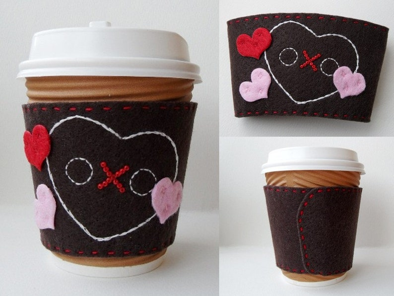 PDF pattern Felt Coffee Sleeve Large
