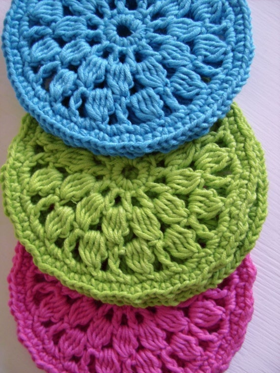 Easy Round Coasters Simple Crochet Pattern For Beginners Etsy