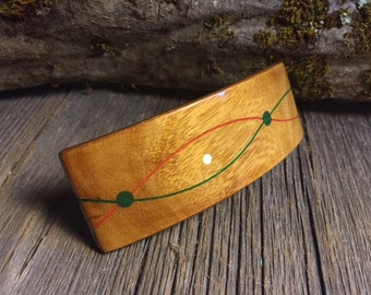 Wooden Hair Barrette: Satinwood (Medium)