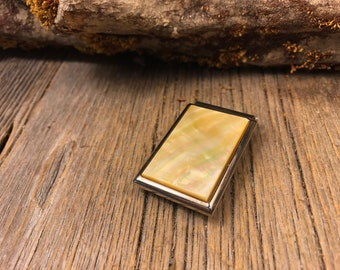 Money Clip: Gold Mother of Pearl ( chromed steel)
