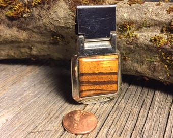 Wood/ Wooden Moneyclip: Zebra wood