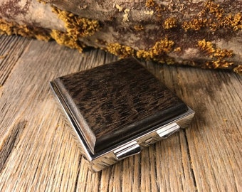 Wood/ Wooden Pill Box: AAAA  Gallery grade Wenge, 4 compartments