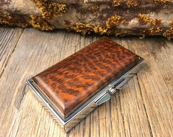 Wood/ Wooden Pill box: AAAAA Gallery grade Snakewood, 7 partitions