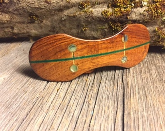 Wood/ Wooden Hair Barrette: Rosewood (Medium)