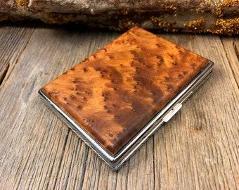 Wood/ Wooden ,Business/ Credit card,Wallet, Cigarette Case: AAAAA Gallery grade Moroccan Thuya Burl