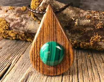 Fine Wood/Wooden pendant necklace