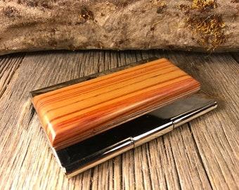 Wood/ Wooden Business Card/ Credit Card Case/ Holder: Gallery grade AAAAA King Wood