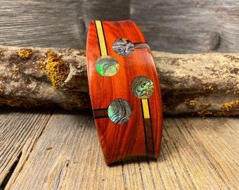 Wood/ Wooden Hair Barrette/ Hairclip: AAAAA Gallery grade Bloodwood ( Medium)