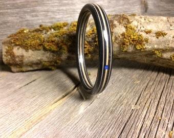 Wood/ Wooden Cuff Bracelet: Gaboon Ebony
