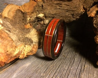 Wood/ Wooden Bracelet: Padouk, Ebony