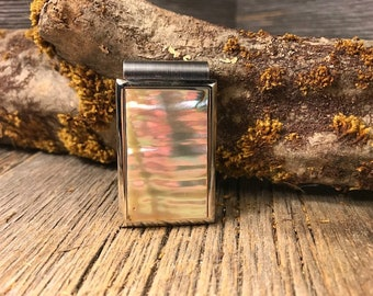 Money clip:  AAAAA Gallery grade Curly Mother of Pearl