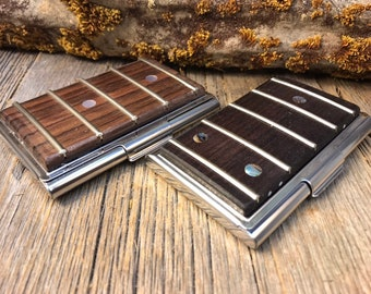 Wood/Wooden Wallet/ Credit Card? Business Card Case: Honduran Rosewood, Bass Guitar/ Guitar Fretboard